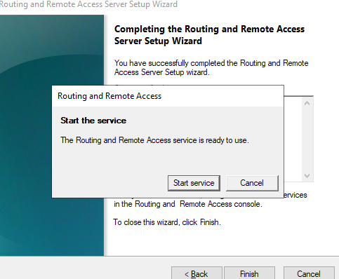 starting routing and remote access