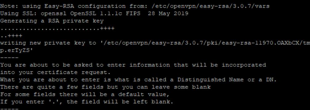 Creating Server Key