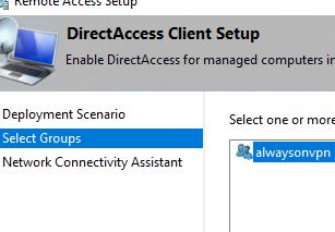 Direct access client setup