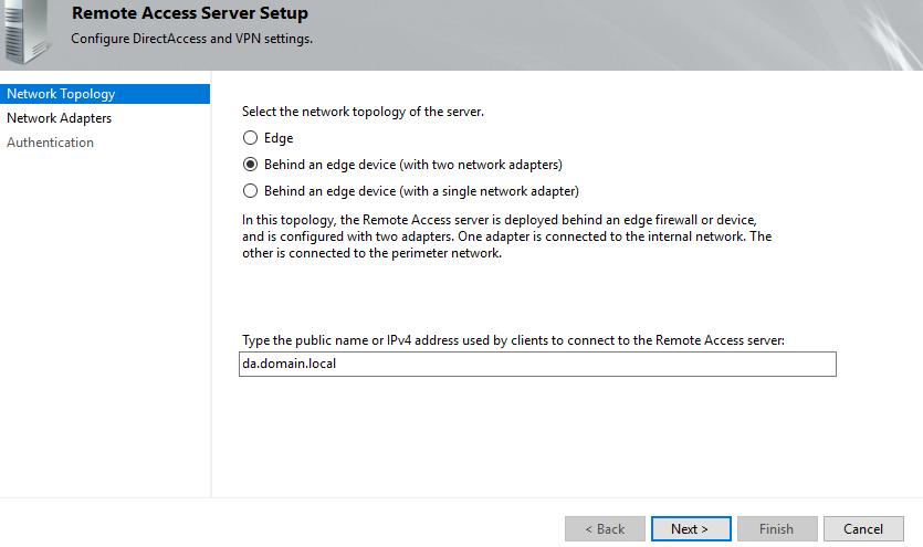 remote access server setup